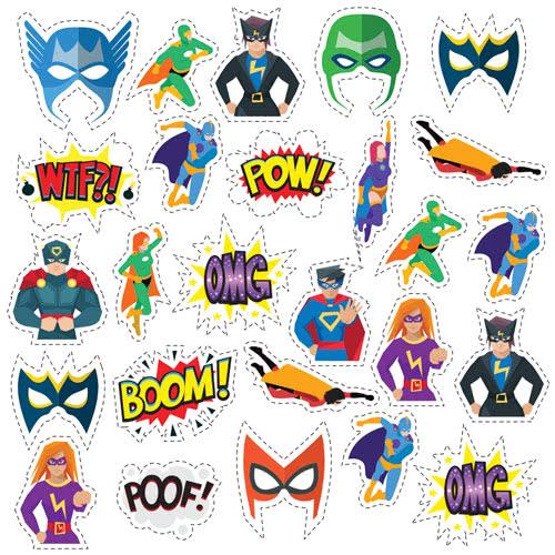 Superhero Masks Cutting Sheet PVC Party Sign Decoration 133cm x 133cm Product Image
