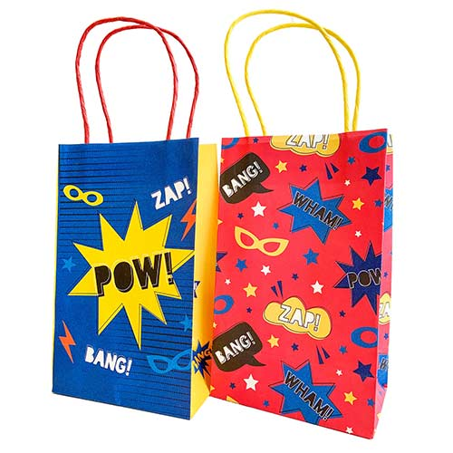 Superhero Paper Colour In Party Bags - Pack of 8