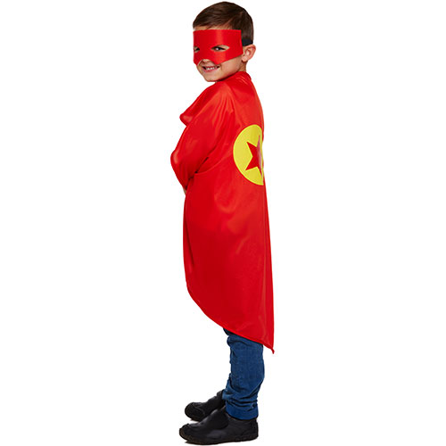 Superhero Red Children Fancy Dress Costume - One Size Product Image