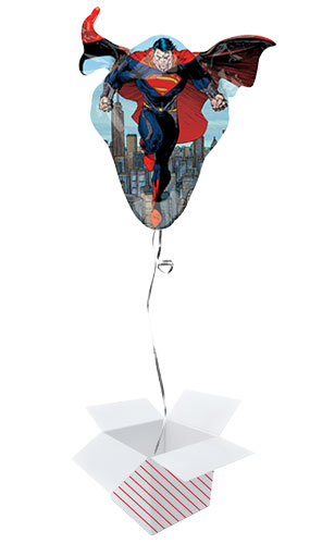 Superman Man of Steel Helium Foil Giant Balloon - Inflated Balloon in a Box Product Image