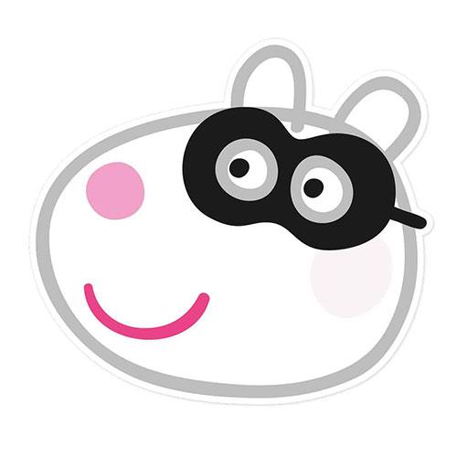 Suzie Sheep Peppa Pig Halloween Cardboard Face Mask