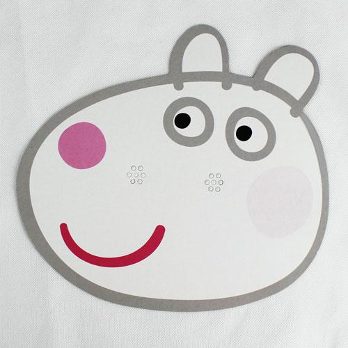 Peppa Pig Suzie Sheep Cardboard Face Mask Product Image