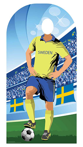 Sweden Football Stand-In Cardboard Cutout 190cm Product Image