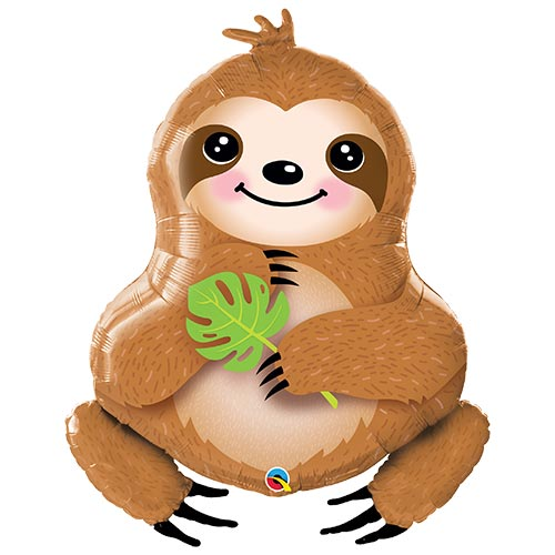 Sweet Sloth Helium Foil Giant Qualatex Balloon 99cm / 39 in Product Image