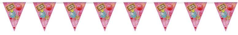 Sweet Valentine Plastic Flag Bunting 365cm