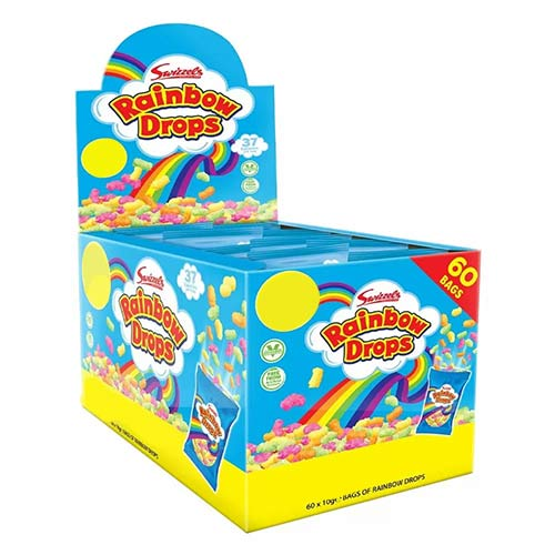 Swizzels Rainbow Drops Mini Bags Vegetarian Sweets - Pack of 60 Product Image