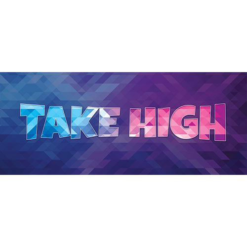 Take High Home Screen Background PVC Party Sign Decoration 60cm x 25cm Product Image