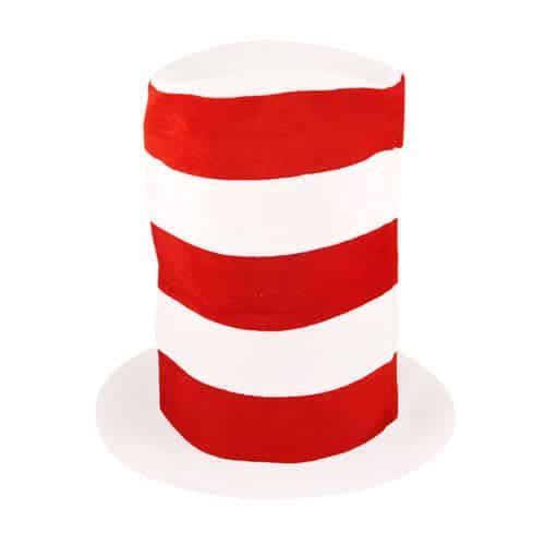 Tall Red And White Hat Child Size Product Image