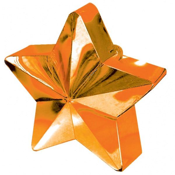 Tangerine Star Balloon Weight Product Image