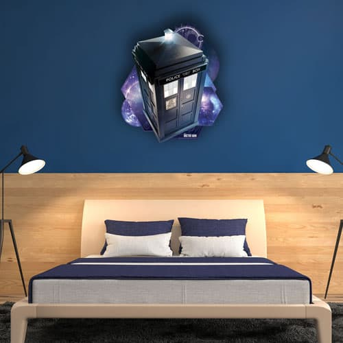 Tardis Time And Relative Dimension In Space Wall Art 72cm