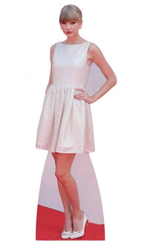 Taylor Swift In White Dress Lifesize Cardboard Cutout 182cm Product Image