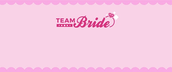 Team Bride Pink Design Small Personalised Banner - 4ft x 2ft