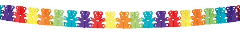 Teddy Bear Paper Garland - 4m Product Image