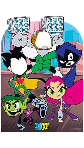Teen Titans Go Child Size Stand In Lifesize Cardboard Cutout 133cm Product Image