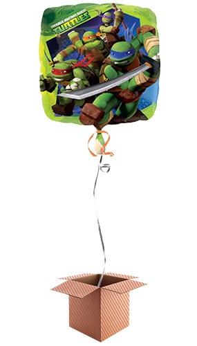 Teenage Mutant Ninja Turtles Square Foil Balloon - Inflated Balloon in a Box