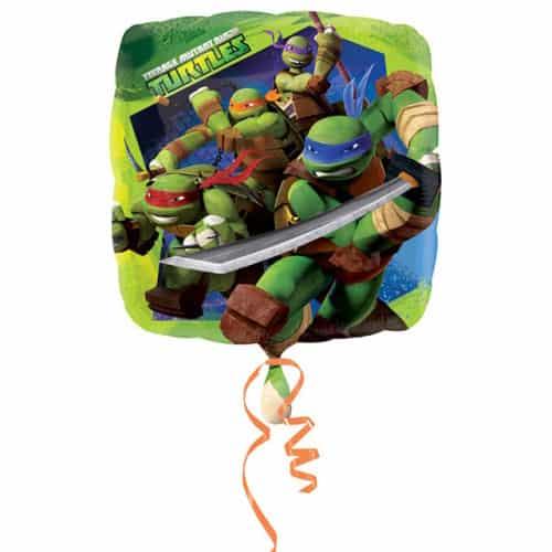 Teenage Mutant Ninja Turtles Square Foil Helium Balloon 43cm / 17Inch