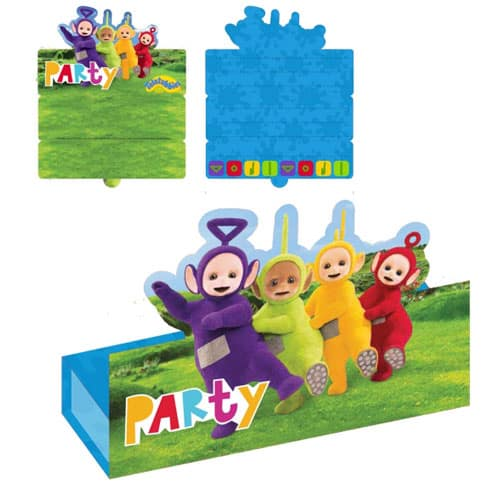Teletubbies Invitations with Envelope - Pack of 8