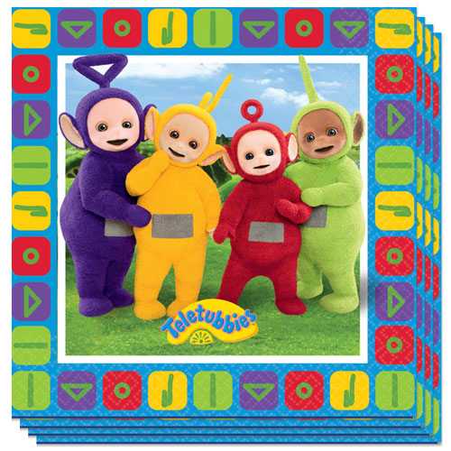 Teletubbies Luncheon Napkins 33cm 2Ply - Pack of 16