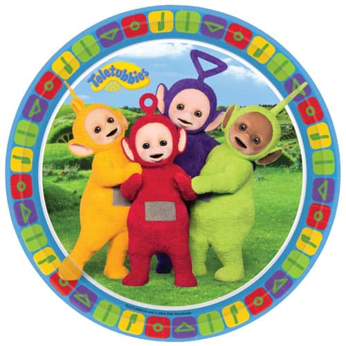 Teletubbies Round Paper Plates 23cm - Pack of 8