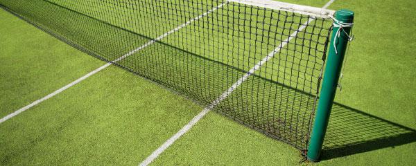 Tennis Court Net Design Medium Personalised Banner - 6ft x 2.25ft