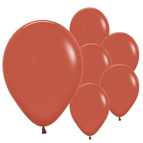 Terracotta Burnt Orange Biodegradable Latex Balloons 30cm / 12 in - Pack of 50
