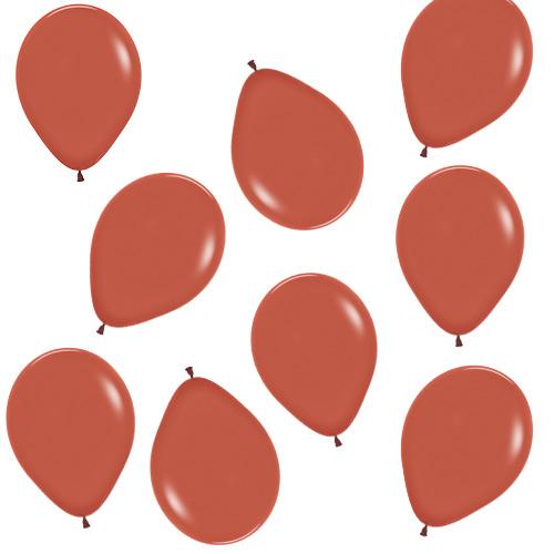 Terracotta Burnt Orange Biodegradable Mini Latex Balloons 13cm / 5 in - Pack of 100 Product Image