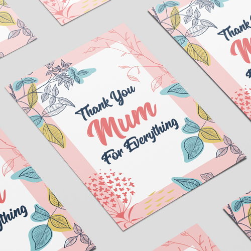 Thank You Mum For Everything Mother's Day A3 Poster PVC Party Sign Decoration 42cm x 30cm Product Image