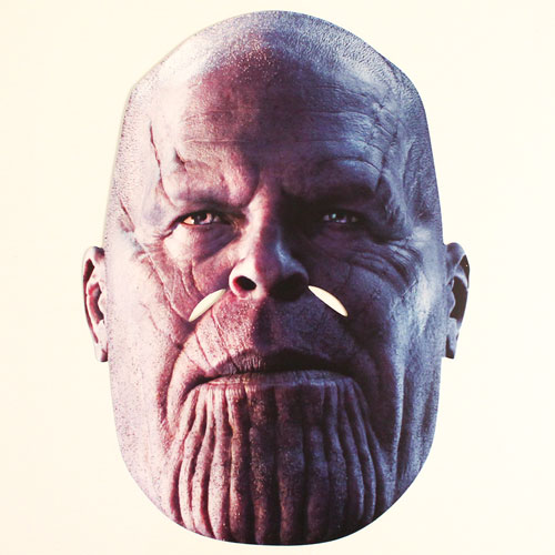 Thanos Avengers Infinity War Cardboard Face Mask