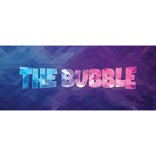 The Bubble Home Screen Background PVC Party Sign Decoration 60cm x 25cm Product Image