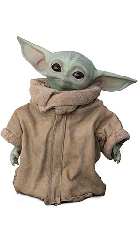 The Child Baby Yoda Wise Head Tilt The Mandalorian Star Mini Cardboard Cutout 95cm