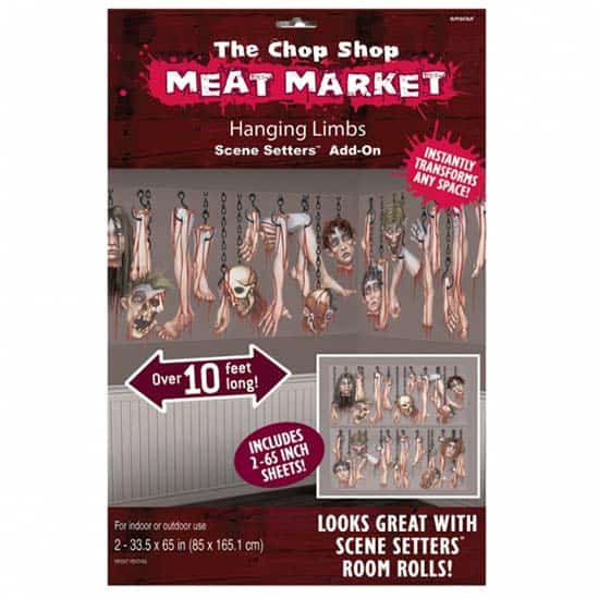 The Chop Shop Meat Market Hanging Limbs Backdrop Scene Setter Add-Ons