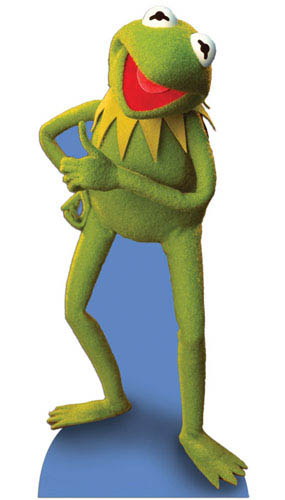 The Muppets Kermit the Frog Lifesize Cardboard Cutout - 133cm Product Image