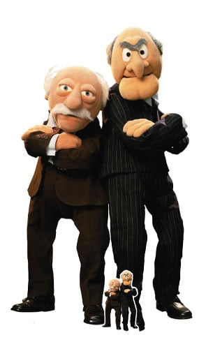 The Muppets Statler and Waldorf Lifesize Cardboard Cutout 149cm Product Image
