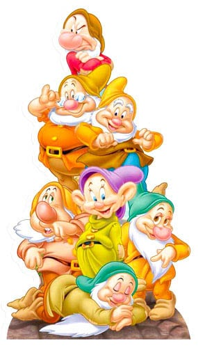 The Seven Dwarves Lifesize Cardboard Cutout - 136cm Product Image