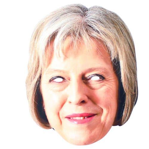 Theresa May Cardboard Face Mask