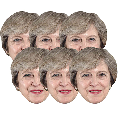 Theresa May Cardboard Face Masks - Pack of 6 Product Image