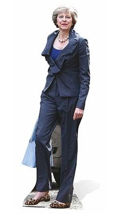 Theresa May Lifesize Cardboard Cutout - 170cm