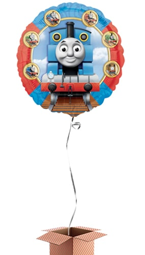 Thomas And Friends Round Foil Balloon - Inflated Balloon in a Box Product Image
