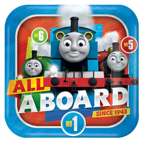Thomas And Friends Square Paper Plates 23cm - Pack of 8