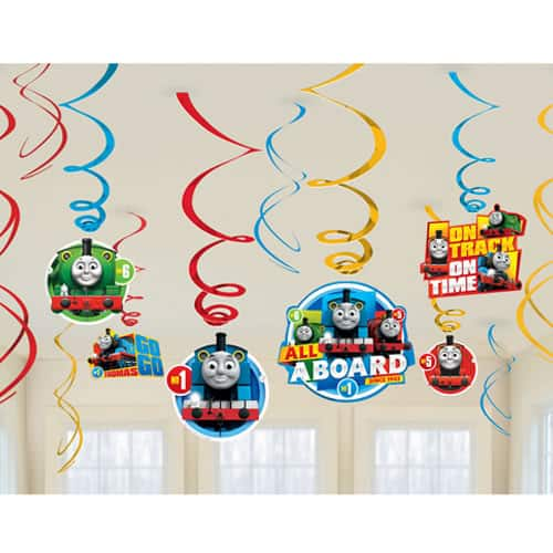 Thomas And Friends Hanging Swirl Decorations - Pack of 12 Product Image