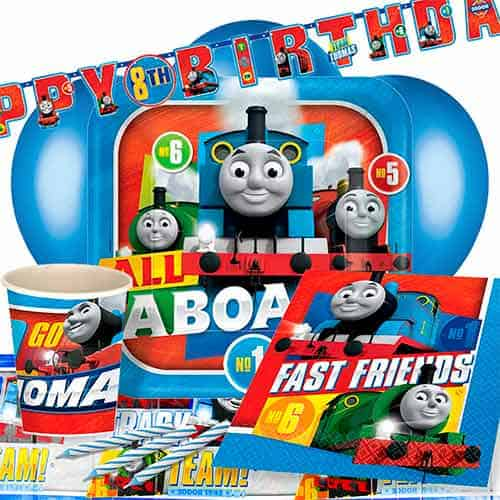 Thomas And Friends 8 Person Deluxe Party Pack