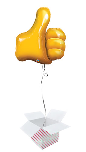 Thumbs Up Helium Foil Giant Qualatex Balloon - Inflated Balloon in a Box Product Image