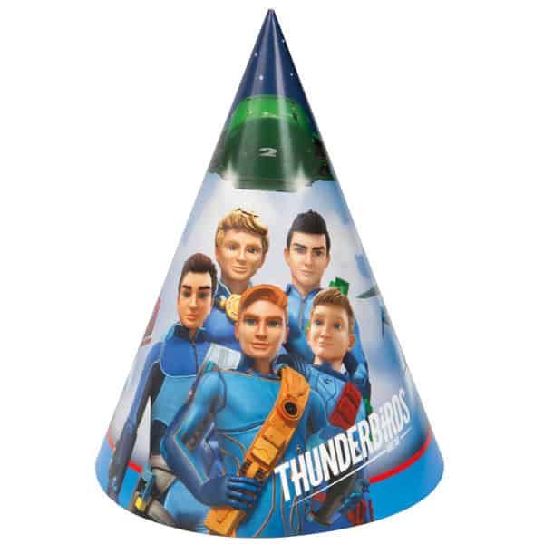 Thunderbirds Cone Party Hat - Pack of 8