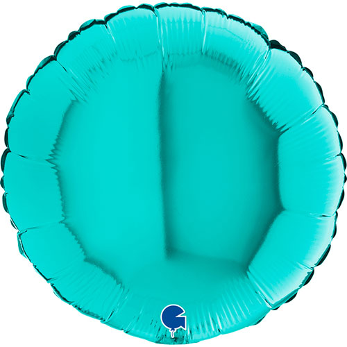 Tiffany Blue Round Shape Foil Helium Balloon 46cm / 18 in