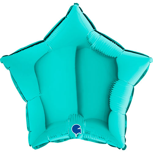 Tiffany Blue Star Shape Foil Helium Balloon 46cm / 18 in Product Image
