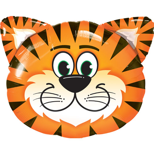Tiger Head Helium Foil Giant Qualatex Balloon 76cm / 30 in Product Image