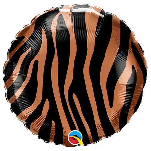 Tiger Stripes Pattern Foil Helium Qualatex Balloon 46cm / 18 in