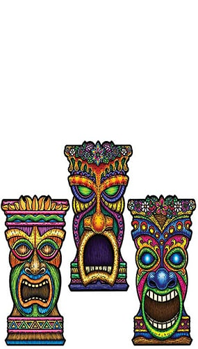 Tiki Theme Assorted Design Decorative Cutout - 22 Inches / 56cm Product Image
