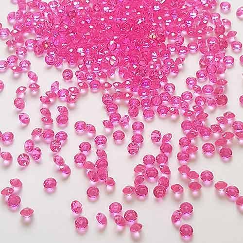 Tiny Hot Pink 6mm Diamonds Premium Table Gems 28g Product Image