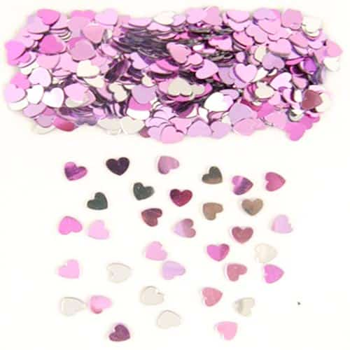 Tiny Pink and Assorted Hearts Table Confetti - 14 Grams Product Image